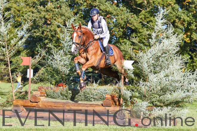 Henk Wieberdink competing at SGW Hattem in 2018 Photo by Eventing Photo