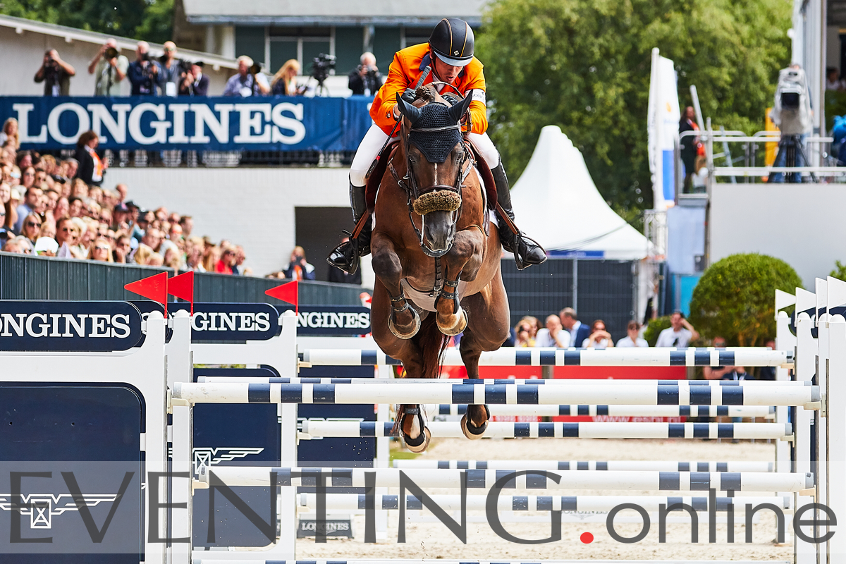 Harrie Smolders competing FEI Nations Cup at CHIO Rotterdam 2018 photo by Eventing Photo