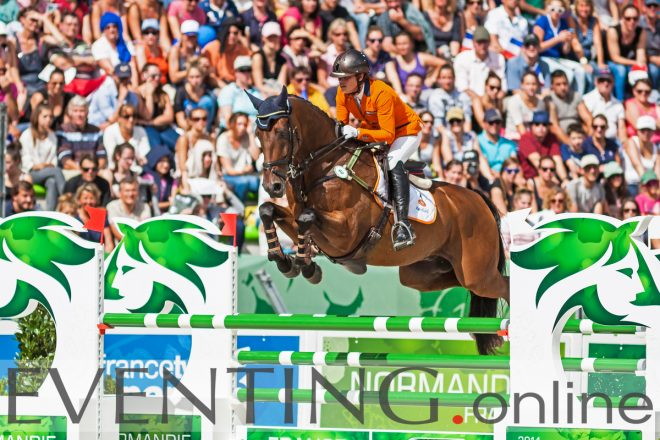 Merel Blom jumping Rumour Has It at the WEG in Caen 2014 photo by Eventing Photo